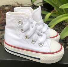 Converse Star Optical Hi Top White Baby Boy Girl Toddler Infant Shoes Size 4-10