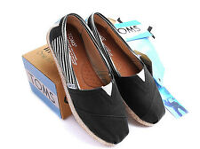 [TOMS] Womens Toms Classic Slip On Black University Flats, Ladies Pumps