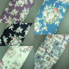 """100% Cotton Linen Look Sewing Dress Making Floral Fabric Quilting Patchwork 44"""""""