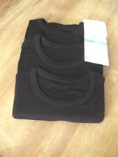 Ex chainstore Marks & Spencer 9-10 years 3 pack black short sleeve vests BNWT