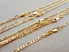 1PCS 16-30 Inch 18K Yellow Gold Filled Mens 2.5mm Italian Figaro Chain Necklace