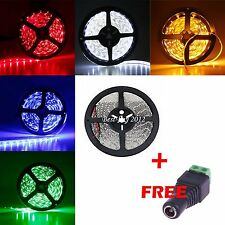 5/10/15M 3528 SMD RGB Flexible LED luz lámpara Strip Blanco Cálido/Frío Dc 12v