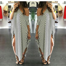 Plus Size XXL Womens Sexy Casual Long Sleeve Maxi Dresses Loose Party Long Dress