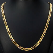 3/3.5mm Mens Boys 316L Stainless Steel 18K Gold Curb Cuban Chain Necklace