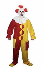 ROSSO & Giallo Clown Costume HALLOWEEN FANCY DRESS NO MASCHERA Inc