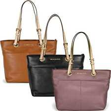 Michael Kors Bedford Leather Tote - Black   Dusty Rose   Luggage
