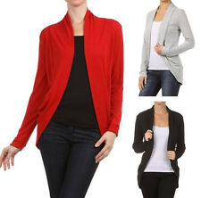Fly Away Open Front Long Dolman Sleeve Cardigan Cocoon Sweater Fashion Central