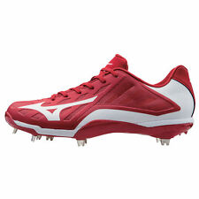 Mizuno Heist IQ Low Cut Adult Men's Metal Baseball Cleat - Red - 320501