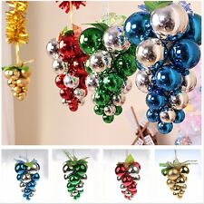 Grape Glitter Balls Baubles Christmas Tree Xmas Balls Party Ornament Decoration