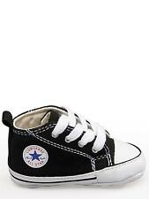 Converse All Star Black White Baby Crib Infant Shoes Boy Girl Sizes 1 - 4