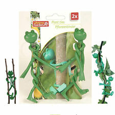 Garden Plant Frog Ties Reusable 4 Flexible Twisty Ties 8 Decorative Wire Support