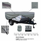 Deluxe Waterproof Pop Up Folding Camper Tent Trailer Storage Cover fits 8'-10'L
