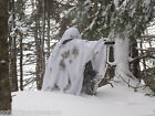 "German Army Snow Poncho / Whites "" Winter Camo "" Grade 1 condition"