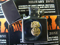 Army Military Regimental Lighter With Scots Fusiliers On Front