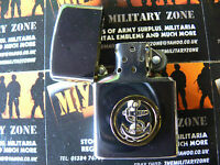 Army Military Regimental Lighter With Royal Navy Junior Rate On Front RN