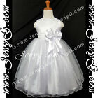 #SB7 Christening Baptism Pageant Gown Dress White 3 6 9 12 18 24 Months 2 3 4 5T