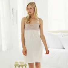 NEW LADIES THE WHITE COMPANY CONTRAST LACE NIGHTIE/CHEMISE, SZ XS-L, RRP £45