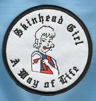 SKINHEAD GIRL PATCH A WAY OF LIFE NOT SKA Oi ISD  TT .,.,