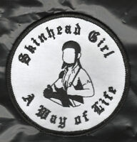 SKINHEAD GIRL PATCH A WAY OF LIFE NOT SKA Oi ISD