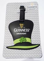 Malaysia GUINNESS Draught ST PATRICK'S HAT Rubber LUGGAGE TAG Limited Edition 10