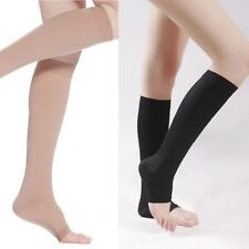New Unisex Knee High Open Toe Elastic Compression Stocking Socks Support Leg L67