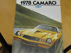 NOS 1978 CHEVY CAMARO Z-28 RALLY SPORT ALL MODELS FACTORY COLOR DEALER BROCHURE
