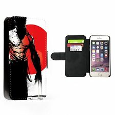 WOLVERINE RED Faux Leather Flip Phone Cover Case Wallet SUPERHERO