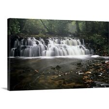 Premium Thick-Wrap Canvas entitled Mosquito Falls. Pictured Rocks National Lake
