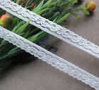 """5Y 5/8"""" wide White embroidered Elastic lace trimming wedding/craft/cloth R702"""