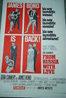 Original Vintage Movie Poster FROM RUSSIA WITH LOVE 1963 JAMES BOND 007