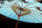 JAPANESE BLUE CHERRY BLOSSOM PARASOL UMBRELLA CHINESE DANCE WEDDING FANCY PARTY
