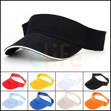 Adjustable Visor Baseball Cap Blank Plain Solid Sports Sun Golf ball Tennis Hat