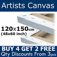 Large Blank Canvas 120x150cm (48x60 inch) Plain Stretched Artist Primed Painting