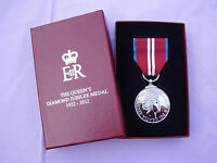 BRITISH ARMY,SAS,RAF,RM,SBS,POLICE - HM Queens Diamond Jubilee 2012 Medal Boxed!