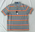 NEW FRED PERRY M6234 MENS STEEL GREY REPEAT MULTI STRIPE POLO SHIRT SIZE S