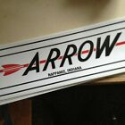 "Arrow Vintage style Travel Trailer Decal Red And Black 22"" Nappanee Indiana"