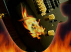 Real Fire Flame Skull Inlay Sticker Decal Guitar |Combined shipping available