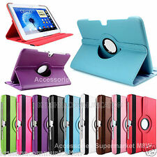"""360° ROTATING LEATHER CARRY COVER STAND FLIP FR SAMSUNG GALAXY NOTE10.1"""" N8000"""