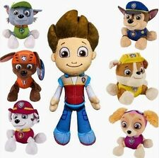 "PLUSH PUP PALS 8"" PAW PATROL SKYE / ZUMA OR ROCKY SOFT TOY NICKELODEON 7 DOG SET"