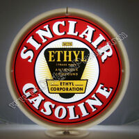 SINCLAIR ETHYL GASOLINE & OIL GAS PUMP GLOBE FREE S&H