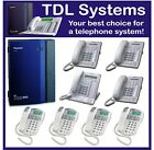 Panasonic KX-TDA30 Hybrid IP telephone system, 8 phones, Installation available.