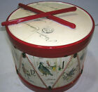 Williams Sonoma 12 Days of Christmas Cookie Canister Jar Red Drum Sticks Trim
