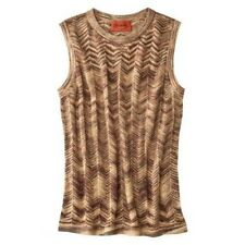 NEW! Authentic Missoni Knit Sweater Vest Gold Chevron Space-dye