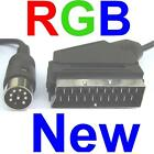 RGB Scart Cable Lead TV Wire for Sega Megadrive Master System - COPPER SHIELDED