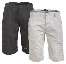 "NEW Hering Mens Stylish Tailored Multi Pocket Cotton Cargo Shorts 26""- 32"" Waist"
