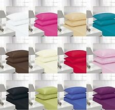 Classic Plain 100% POLYCOTTON  FITTED SHEETS IN  SINGLE  /DOUBLE /KING /S.KING