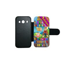Etui housse portefeuille originale Candy Crush 2 swag Samsung Galaxy A3