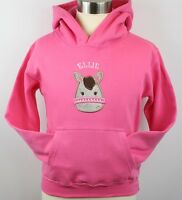 Girls Personalised Embroidered Pony/Horse Hoodie with Crystals 2 Colours