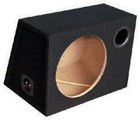 """PORTED WEDGE 10"""" SUBWOOFER ENCLOSURE BASS PORT BOX SUBS"""