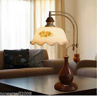European style Pastoral Simple Study Bedroom Bedside Glass Mood Table Lamp